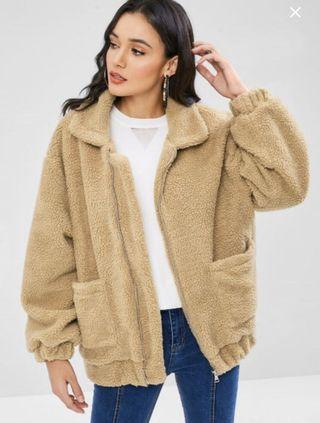Teddy coat in size small