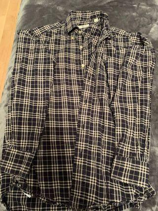 Burberry plaid blouse size small