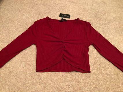 Glassons red long sleeve top