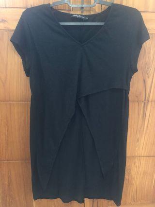 slit blouse