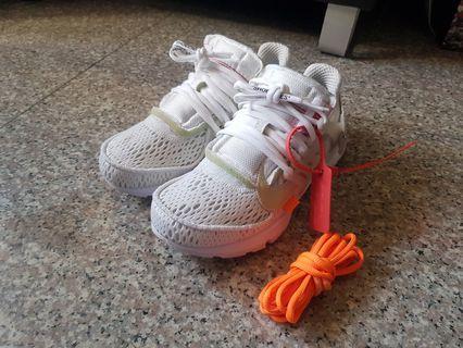 OFF-WHITE x NIKE PRESTO白魚骨 聯名運動鞋 (US6)