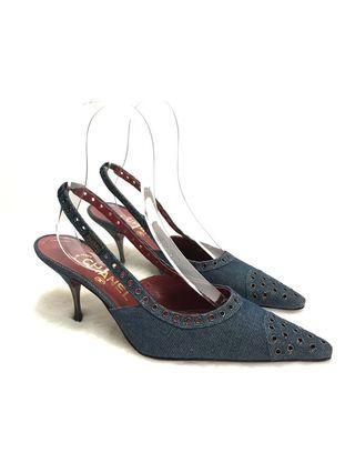 Chanel 稀有全新未穿牛仔巫婆鞋