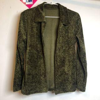 全新綠色毛外套
