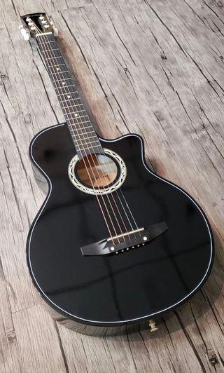 全新電箱Cowboy木結他, Black Cowboy electric acoustic guitar