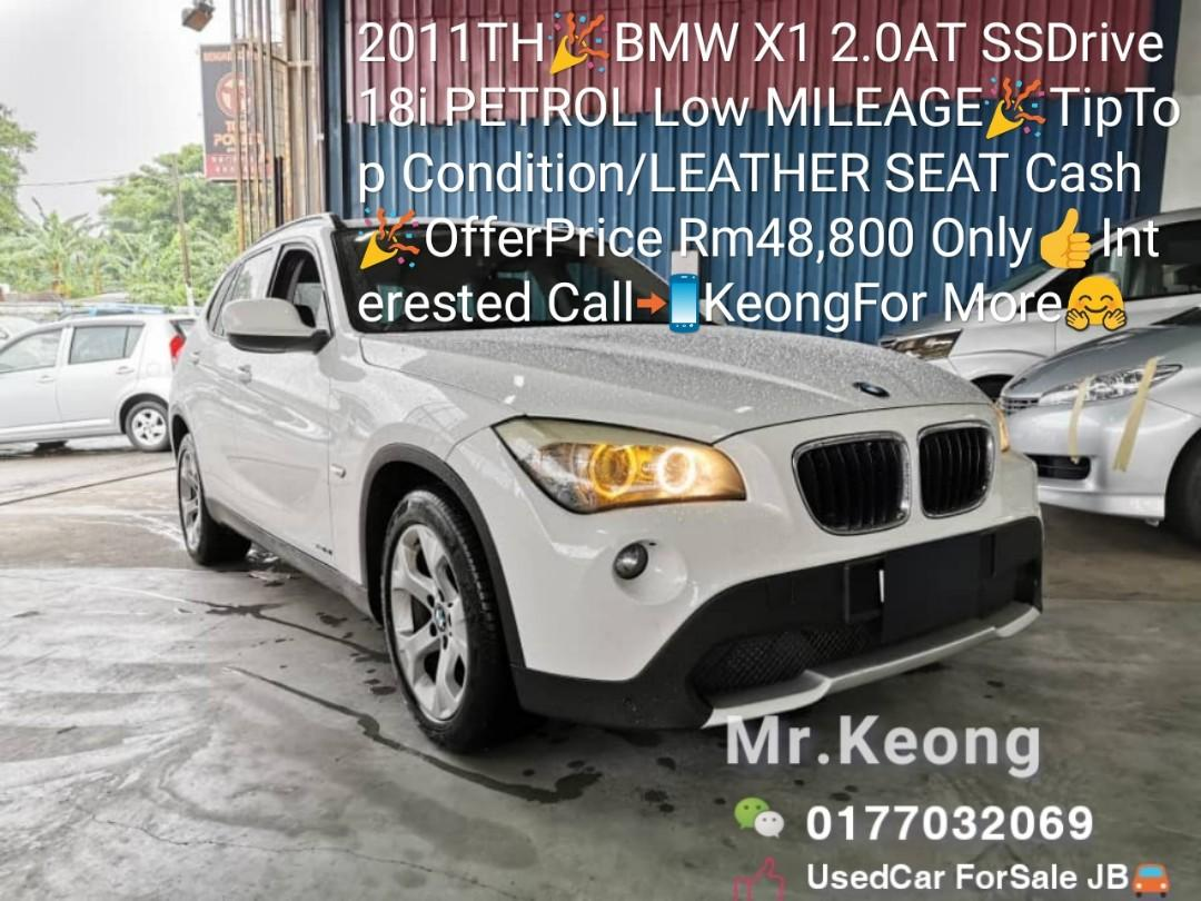 2011TH🎉BMW X1 2.0AT SSDrive18i PETROL Low MILEAGE🎉TipTop Condition/LEATHER SEAT Cash🎉OfferPrice Rm48,800 Only👍Interested Call📲KeongFor More🤗