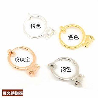 改夾神器 耳夾轉換器 彈簧耳夾 金色 銀色 不用改