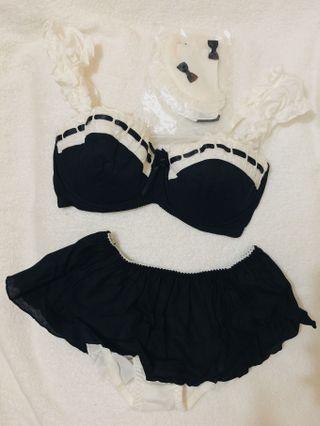 🈹Peach John Cosplay女僕黑白色花邊女裝內衣套裝 全新㊙️罕有品