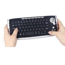 無線軌跡球鍵盤迷你2.4G無線鍵鼠合一多媒體滑鼠鍵盤套裝57710