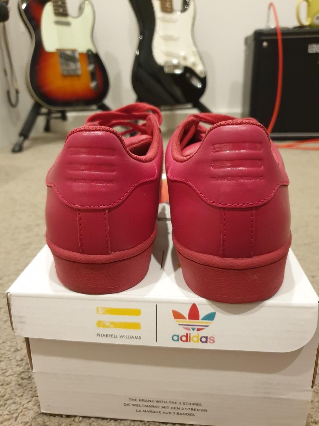 Adidas x Pharell Williams Superstar Supercolor Pack Hot Pink Womens US 7