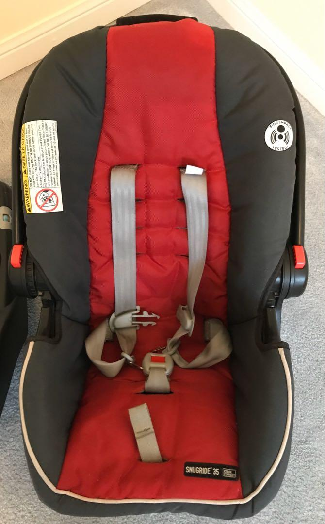 EUC Graco Snugride 35 click connect infant car seat