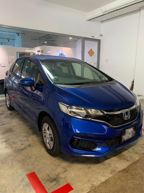 Honda Fit for rental.pplate welcome