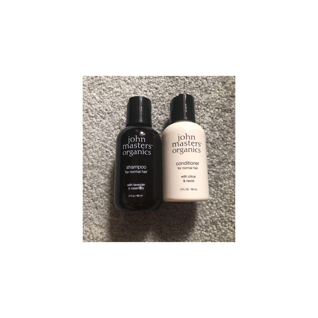 John Masters Organics Shampoo and Conditioner Sample Size