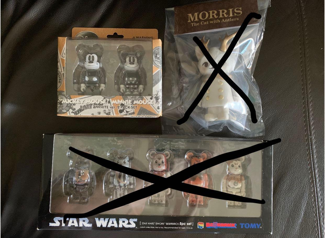 Mickey Minnie Mouse Morris Star Wars Ewok 100% Bearbrick Vinyl Toy