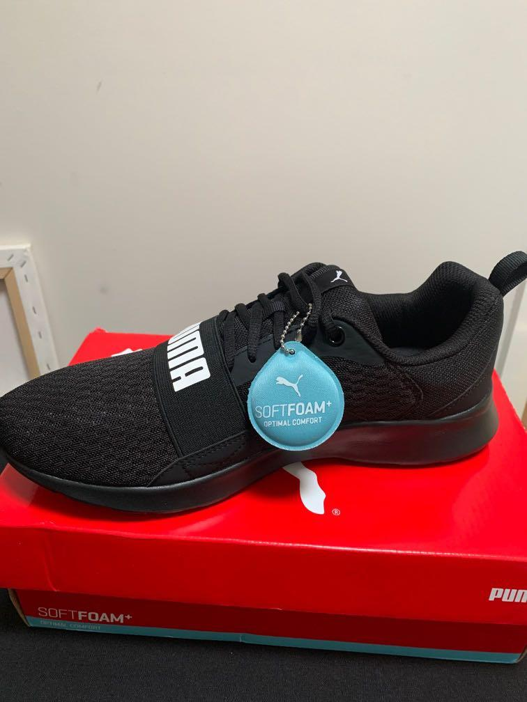 BRAND NEW Puma Wired Mens Black Sneakers SIZE US 10