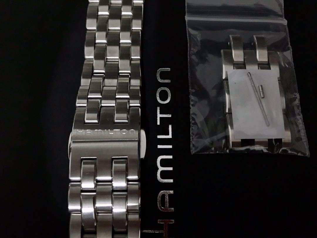 Sell watch strap steel. 22mm width.    Come from my new H32705141 HAMILTON JAZZMASTER 42mm Steel Automatic Watch. Bought in December 2019.