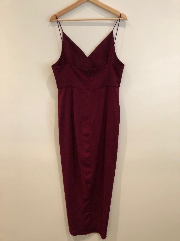 SHONA JOY - CORE COCKTAIL DRESS - BURGUNDY - SIZE 14