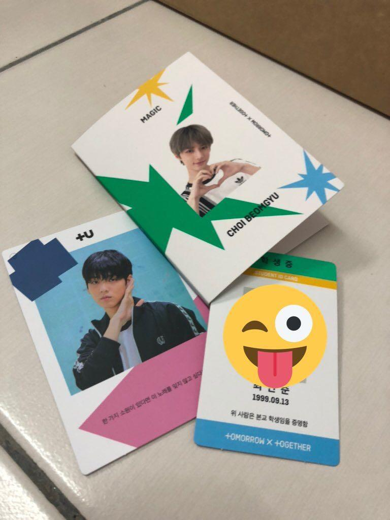 TXT Magic (Sanctuary Ver): Soobin Ring Card / Beomgyu Student Pad