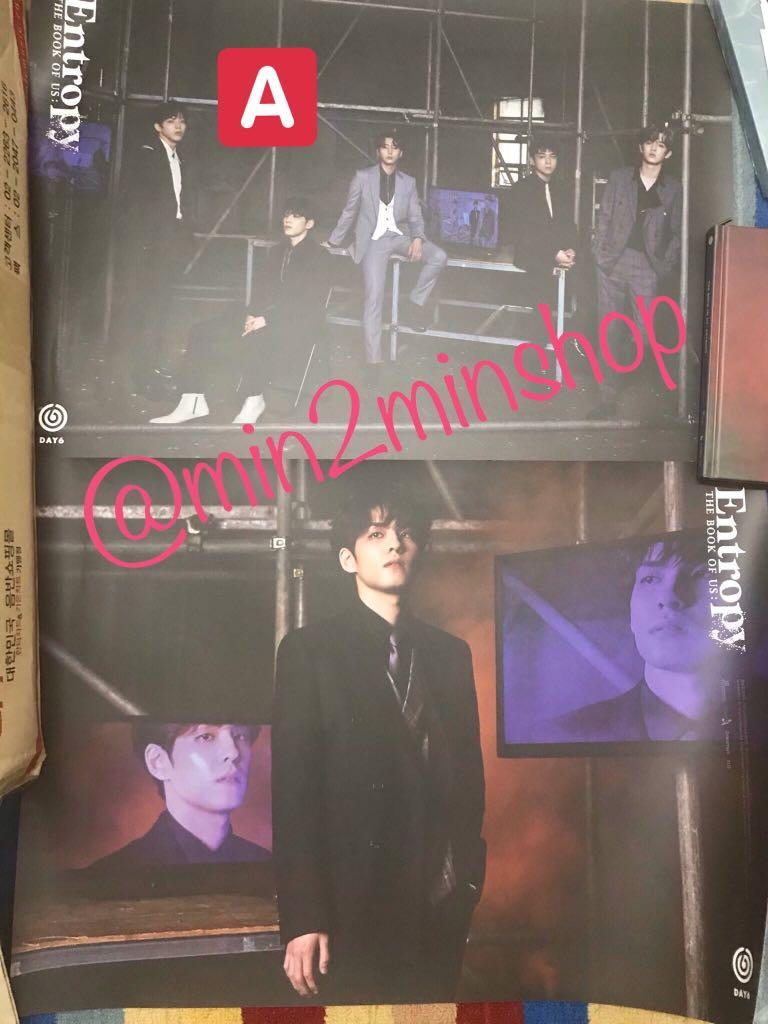 [WTS] Official Poster DAY6 Album Vol.3 [The Book of Us : Entropy]
