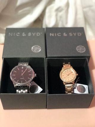 His and Hers Swarovski Crystals Watch