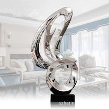 酒店大堂擺飾會所樣板房電鍍雕塑玄關擺件家居客廳抽象裝飾藝術品78199