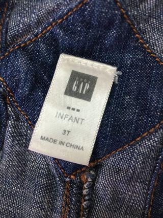 GAP正品 單寧牛仔 可調式 女童吊帶裙 還很新 便宜售出