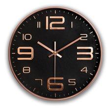 12寸現代簡約鐘表家用時鐘掛鐘客廳個性創意大氣北歐靜音84866