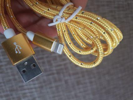 全新金色iphone充電線,唯此一條