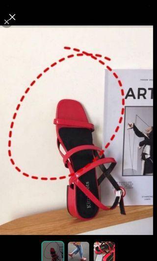 韓版涼鞋(僅穿一次)