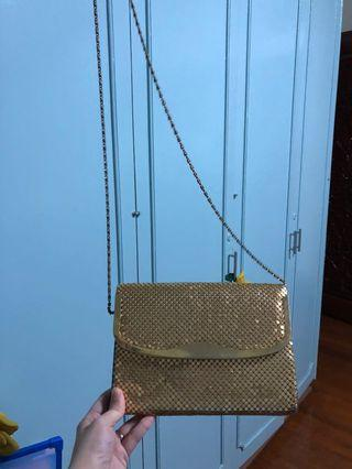 Gold Sling party Bag