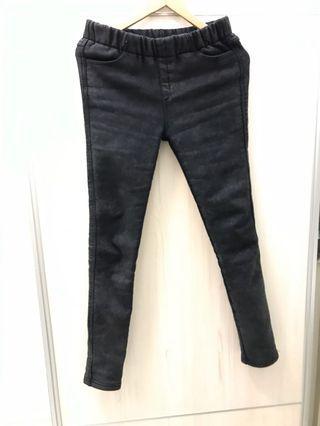 厚黑色牛仔褲內刷毛  順身型版型