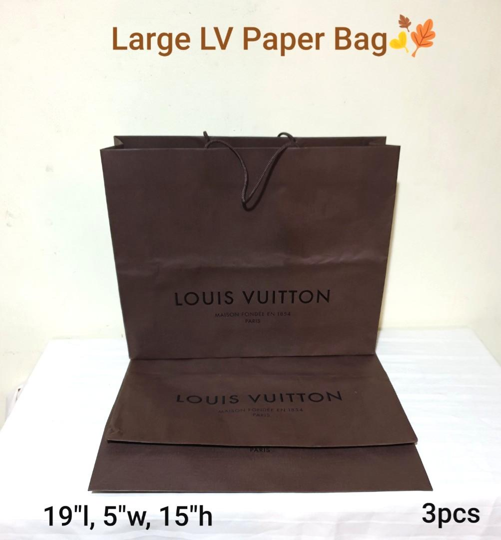 (18pcs for $70, average$3.80 each) Louis Vuitton Paper Bag, Huge, Medium and Small sizes. Beautiful & Good condition  used once.  WhatsApp 96337309.