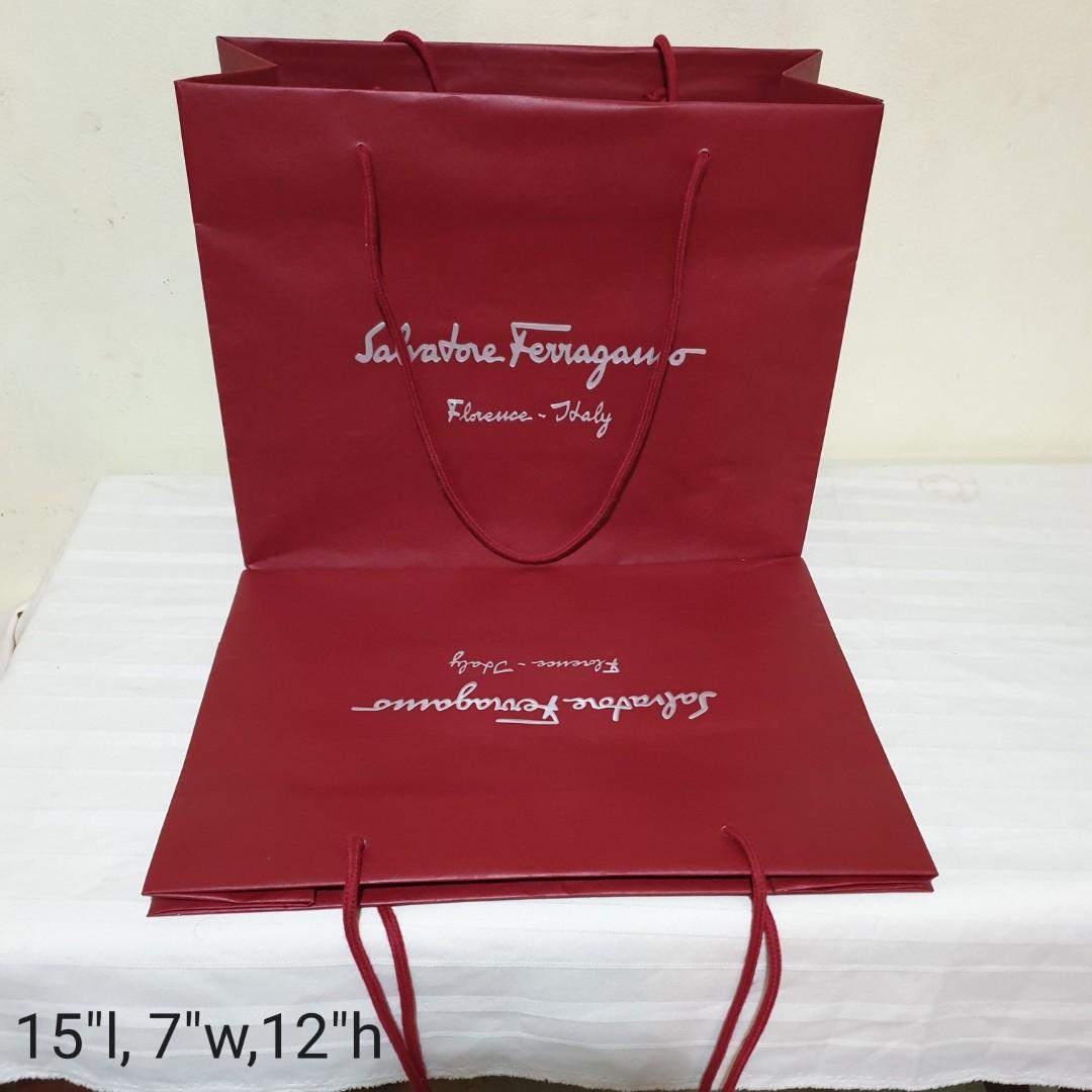(8pcs for $38, average $4.75each) GIVENCHY, Salvatore ferragamo,  MCM, Longchamp, Tory Burch Paper Bag, various Big and Small sizes. Beautiful & Good condition  used once.  WhatsApp 96337309.