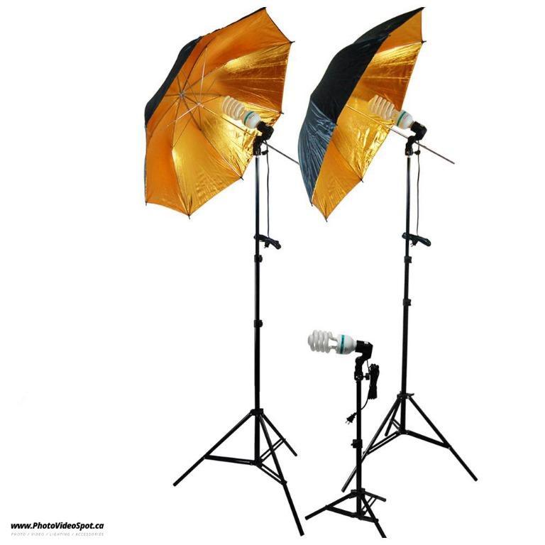 3-Point Photo Video Continuous Umbrella Lighting Kit / PhotoVideoSpot . ca