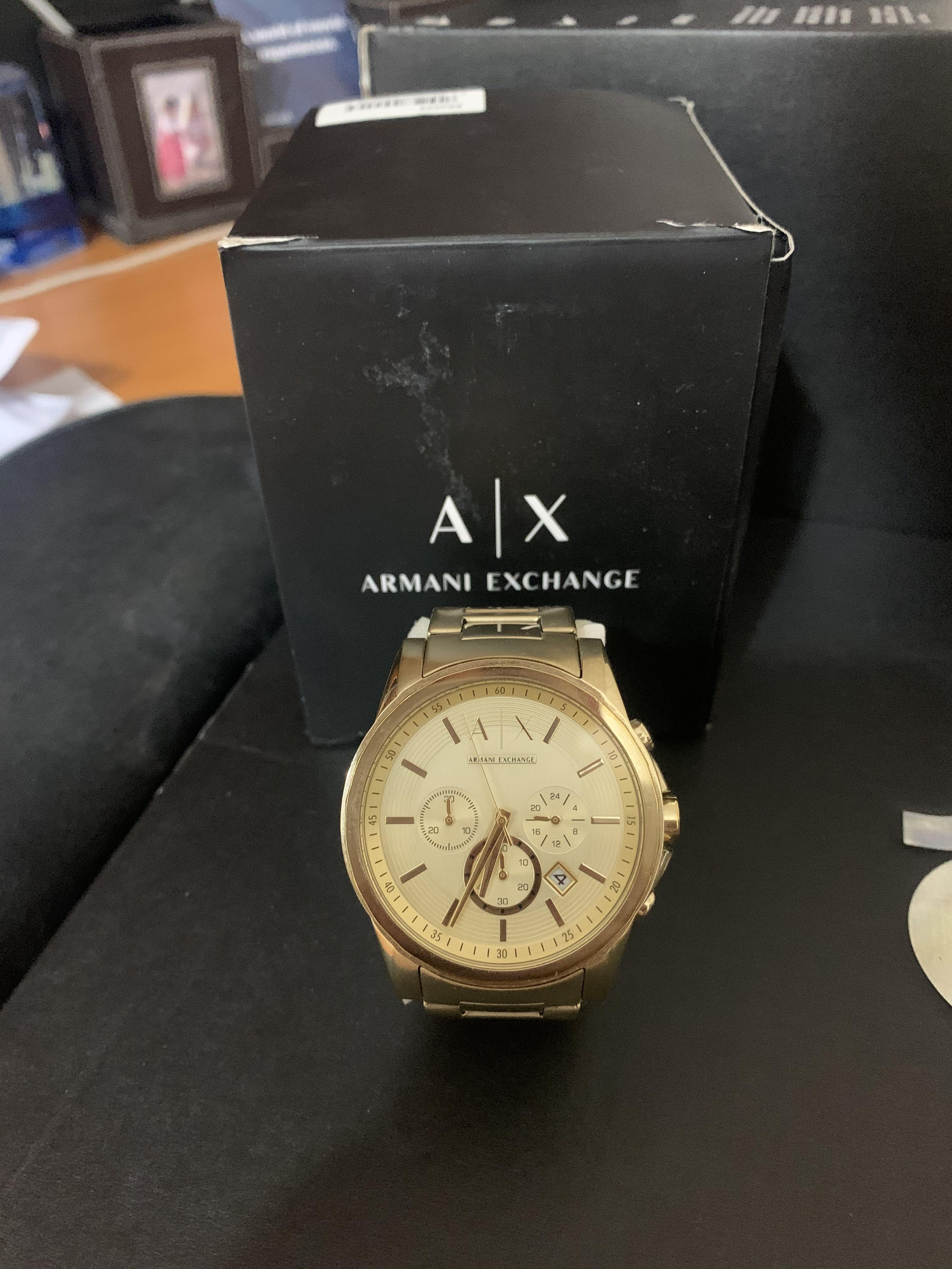 Armani Exchange Chronograph Gold Stainless Steel  Watch (NEED GONE ASAP!)