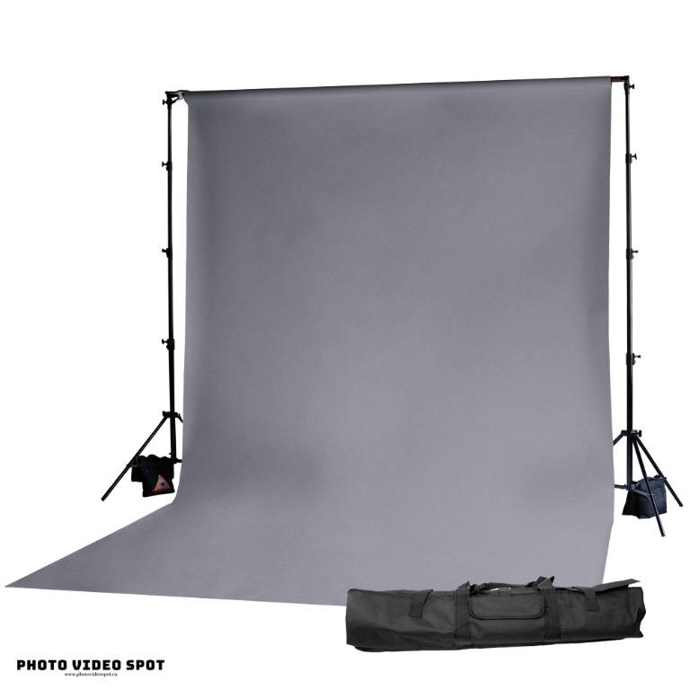 Grey Photo Video Background Kit / PhotoVideoSpot . ca