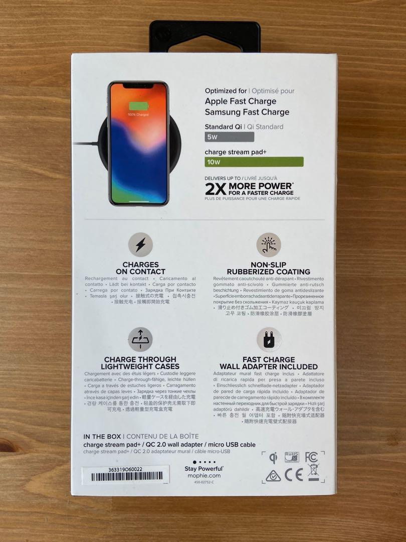 NEW Mophie Stream Pad+ Wireless Charger (Great Gift!)