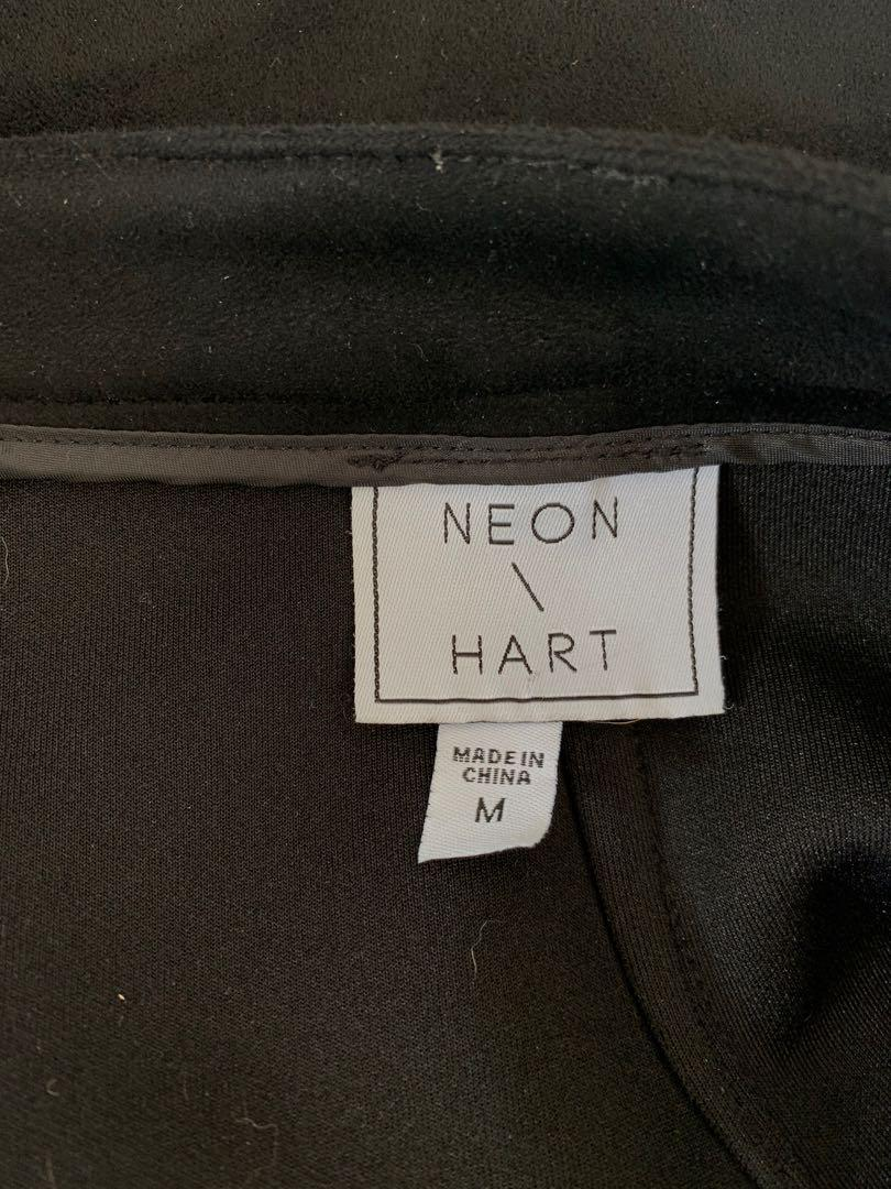 Neon / Hart Black Faux Suede Skirt Size M - Black - current season