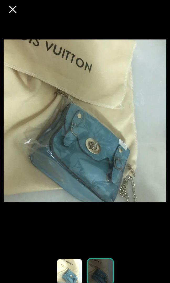 New Hermes/ Mulberry style blue mini shoulder bag chain