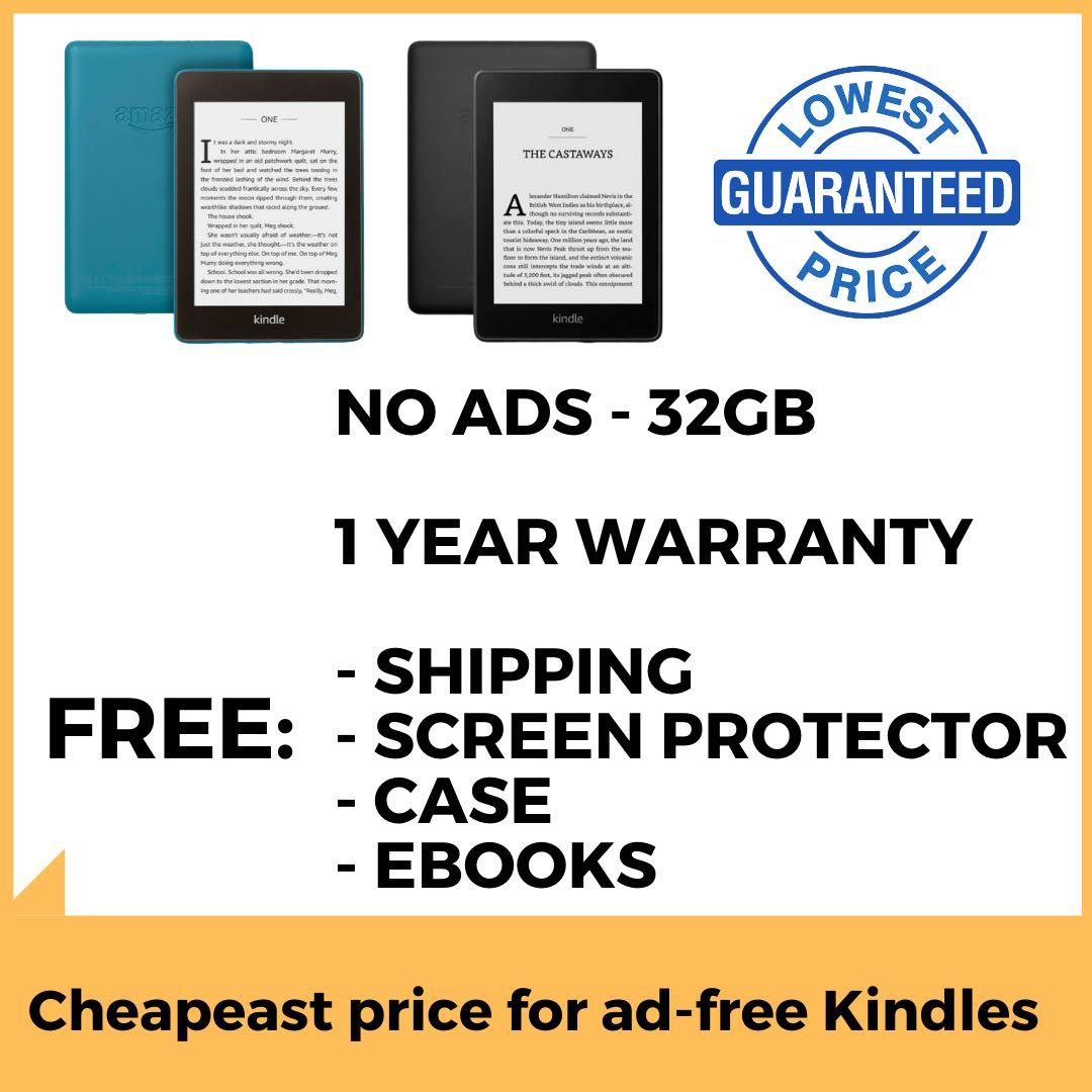 No ads - Kindle Paperwhite 2019 - Kindle Paperwhite 32GB and 8GB