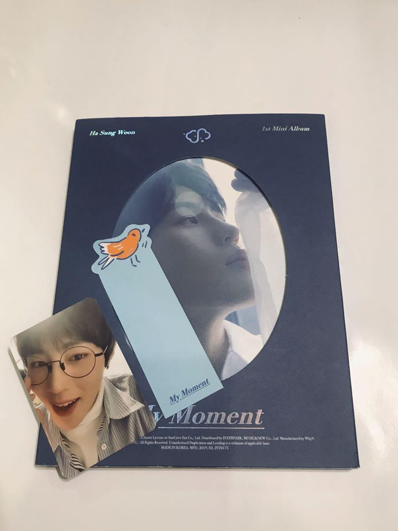 OFFICIAL HA SUNG WOON 1ST MINI ALBUM [MY MOMENT] DAILY VER