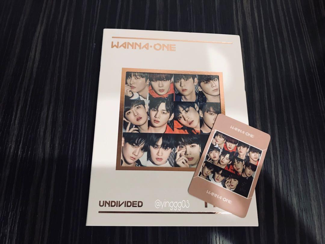 OFFICIAL WANNA ONE SPECIAL ALBUM [1➗x=1 UNDIVIDED] WANNA ONE VER