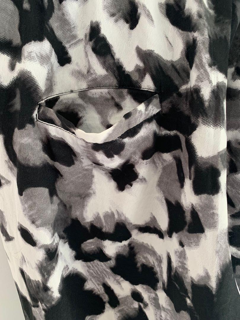 ONLY black and white camo lightweight pants size 36