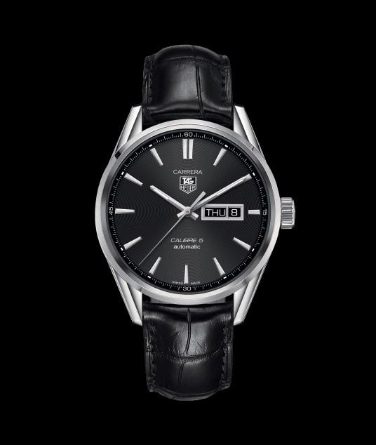 Original Ressambled TagHeuer Carrera Day-Date Calibre 5 Black Dial WAR201A.FC6292