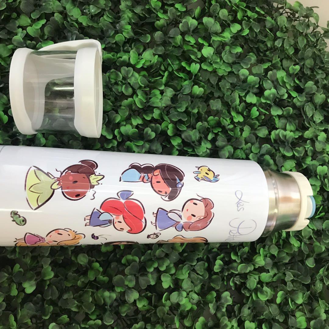 P.O. Disney Princess Vacuum tea flask Elsa Anna frozen Ariel Mermaid Cinderella