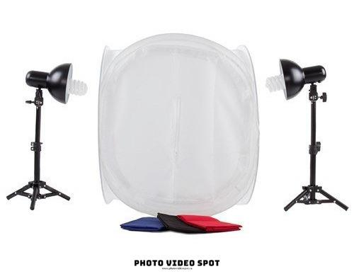 Product Photography Lighting Kit + Tent / BRAND NEW / PhotoVideoSpot . ca