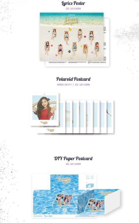 [Ready Stock/Sealed/First Press Photocard +Poster Set]TWICE 2ND SPECIAL ALBUM - SUMMER NIGHTS(B or C ver)