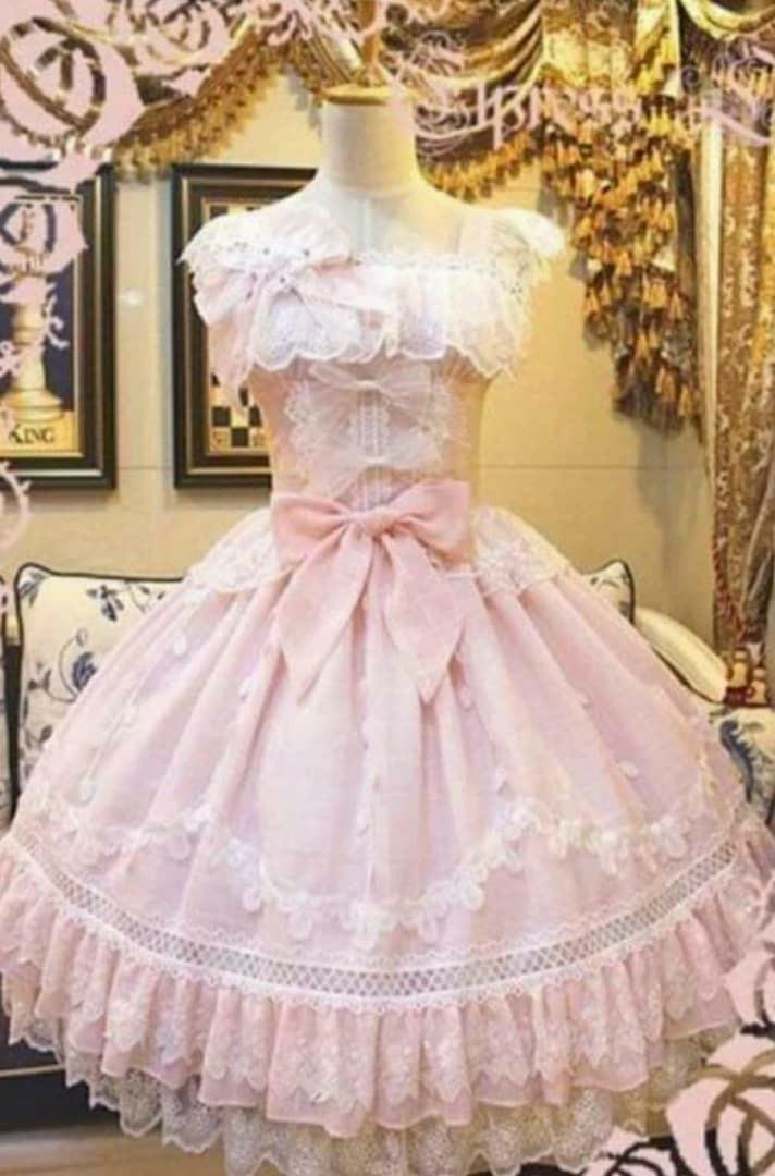 RENT/SALE Premium Princess Pink Lolita One Piece Dress