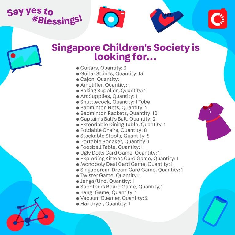 Singapore Children's Society is looking for...