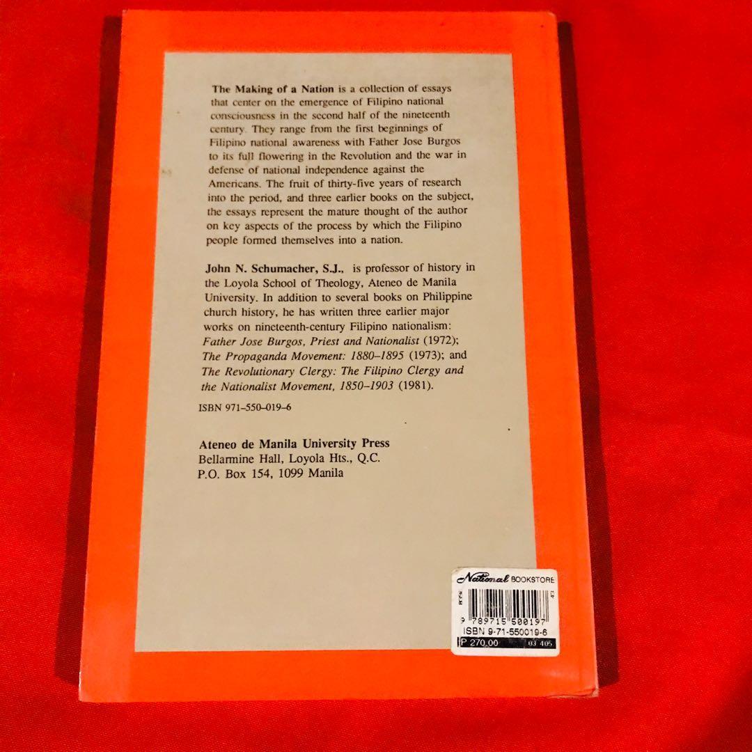 The Making of A Nation: Essays on Nineteenth Century Nationalism - John Schumacher SJ
