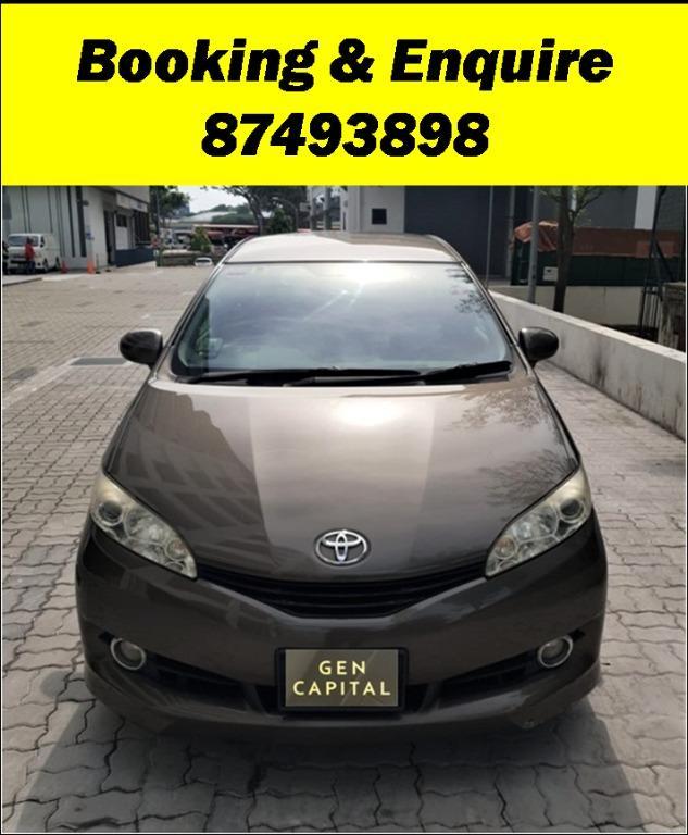 Toyota Wish Lowest rental rates, fuel efficient & spacious whatsapp Edwin @87493898 now!!!